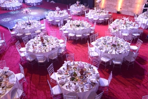 Palladio Ballroom your indoor wedding and event venue in jounieh Lebanon. Wedding Table Set up