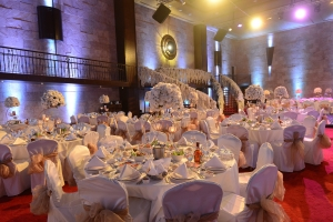 Palladio Ballroom your indoor wedding and event venue in jounieh Lebanon. Wedding Table Set up